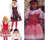 90s Girls Peasant Blouse Vest & Skirt Pattern Style 2389 Steampunk Romantic Cosplay Sewing Pattern Size 9 - 14 UNCUT Factory Folds