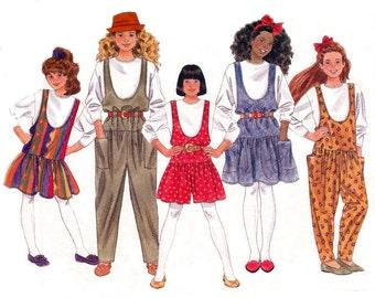 90's Teen Girls Drop Waist Jumper T Shirt Jumpsuit Pattern Butterick 5081 Size 12 14