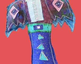 Tall Quilted Crow