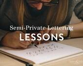 Semi-Private Lettering Lessons