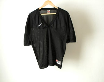 vintage NIKE 90s swoosh Michael Jordan Embroidered mesh jersey HOOPS nba basketball football t shirt