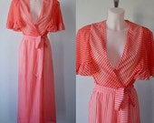 Vintage 1960s Robe, Dressing Gown, Miss Silver Lingerie, 1960s Robe, 1960s Negligee, Vintage Ladies Robe Dressing Gown