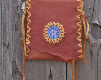 Crossbody handbag , Small leather purse , Crossbody leather phone bag , small beaded handbag , beaded phone bag , festival bag , boh