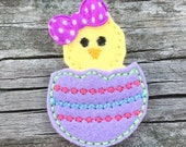 Easter Hair Clip, Toddler Hair Clip, Easter Hair Bow, Baby Chick Hair Clip, Egg Hunt Hair Clip, Girls Hair Bows, Easter Egg Hair Clip