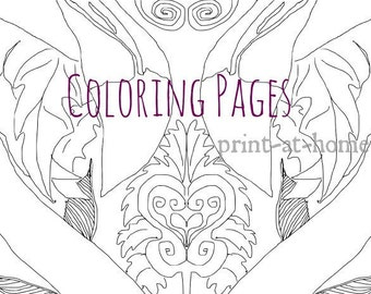 Flamingo Coloring Print Instant Download Flamingo Art Print Adult Coloring Pages Stay Weird Gift DIY Decor Printable Coloring Sheet