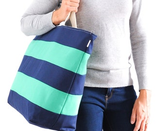 Signature Stripe Tote Extra Large // Beach Bag