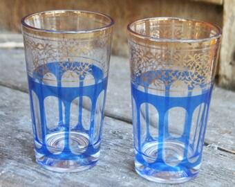 Vintage Pair of Art Deco Swanky Swig Glasses