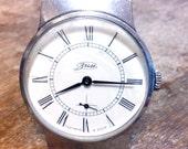 Wrist watch mens watch Pobeda grey watch men watch, men's mechanical watch, white watch, classic watch