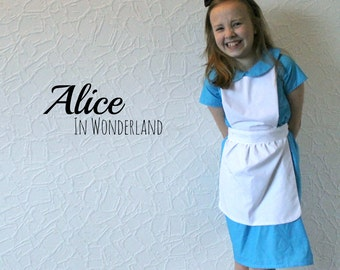 Alice in Wonderland - Disney Inspired Dress (with or without apron)