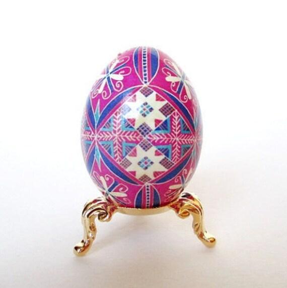 pink Ukrainian Easter eggs, pysanky eggs
