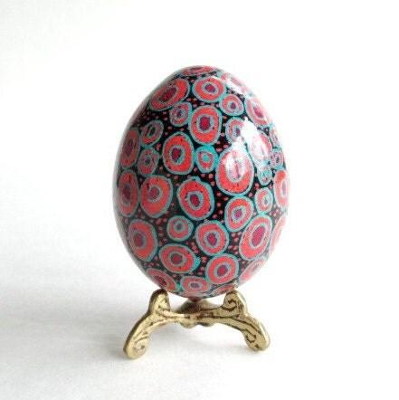 polkadot pysanka easter egg fun by ukrainianeastereggs on etsy