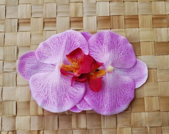 Beautiful double orchid flower in baby pink colour very detailed top quality pin up rockabilly vintage style wedding