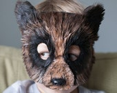 Child Size Woodland Brown Bear Mask Grizzly Bear Mask, bear costume, animal mask, animal masks,  child costume, Halloween