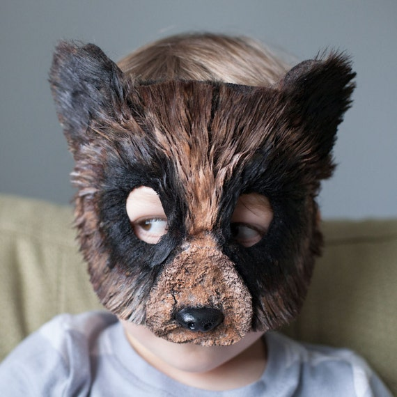 Child Size Woodland Brown Bear Mask Grizzly Bear Mask, bear costume, animal mask, animal masks,  child costume, Halloween, mardi gras mask