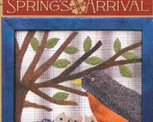 Wool Applique Pattern, Spring's Arrival, Framed Wool Applique, Timeless Traditions, Norma Whaley, PATTERN ONLY
