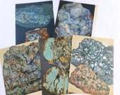 Rocks and Minerals Color Book Plates Photographs Illustrations Prints Pages Blue Lot