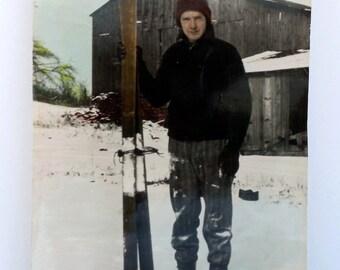 Vintage Ski Photo - Photograph - Ski Collectible - Old Photo - Paper Ephemera - Ski - Vintage Winter Sport