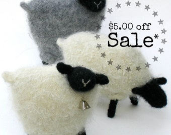 SALE 1/2 off! PATTERN-BOOKLET. A Knit & Felt Wool Sheep Pattern