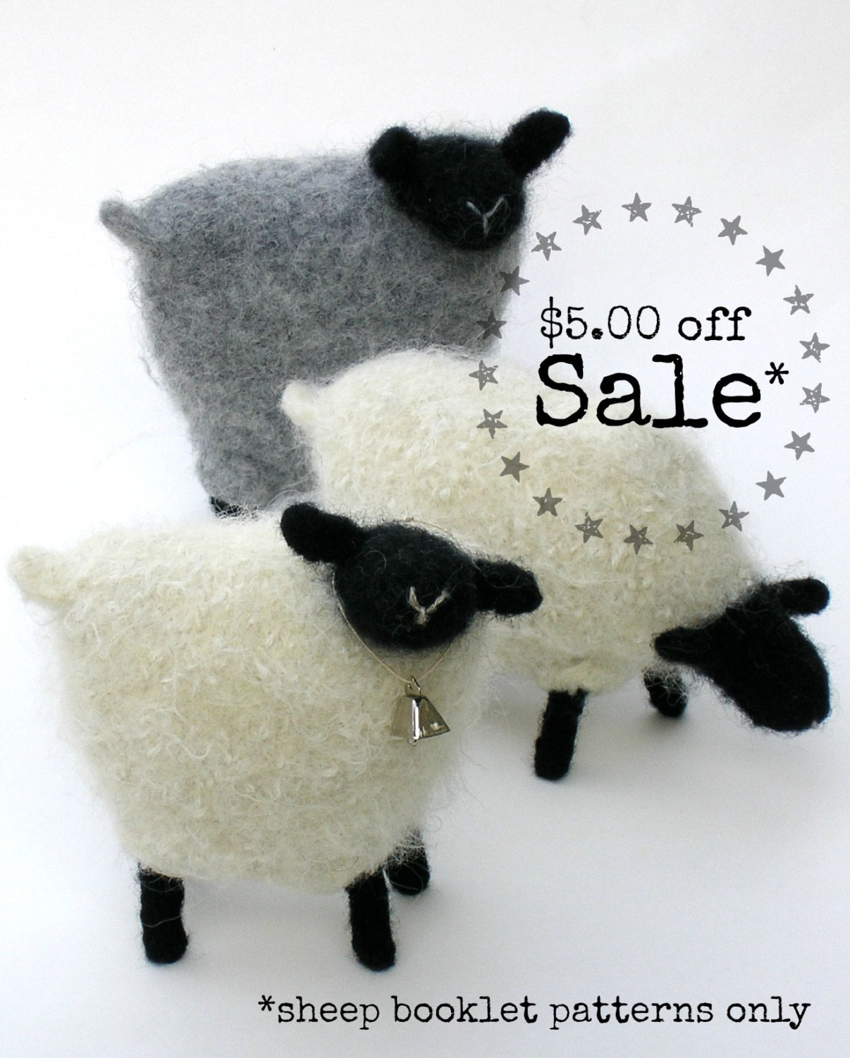 Sale 50 off pattern booklet a knit felt wool sheep pattern get shipping estimate bankloansurffo Gallery