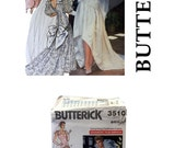Vintage Wedding Gown Pattern, Butterick 3510, Wedding Dress Pattern, Bridesmaid Dress Pattern, Maid of Honor, Bridal Pattern, Bridal Gown