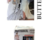 Vintage Wedding Gown Pattern, Butterick 3510, Wedding Dress Pattern, Bridesmaid Dress Pattern, Maid of Honor, Bridal Pattern, Bridal Gown