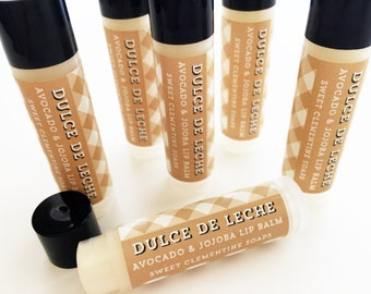 Dulce de Leche Lip Balm - Moisturizing Avocado and Jojoba Oil Lip Balm