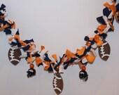 Footbal Fabric Banner/Garland Bunting Fabric Strips Denver Bronco Helmets