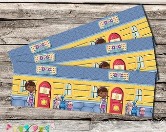 Doc McStuffins Inspired Bottle Labels - Birthday Party or Wedding Treat Box - Printable - DIY - Digital File - INSTANT DOWNLOAD!