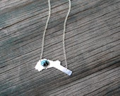 Nevada County Necklace. Sterling Silver with Turquoise. Made to order.