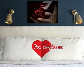YOU COMPLETE ME Pillow Case  Perfect Wedding  Couple