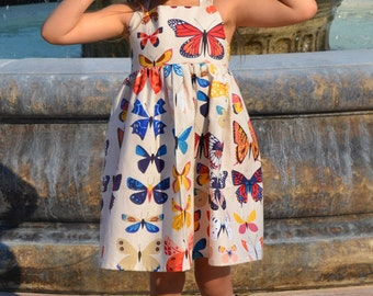 Butterfly Specimen Toddler Girls Dress The Rosie Dress Size 5T Ready to Ship