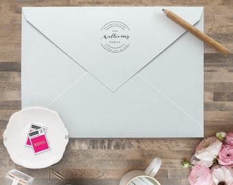 Custom Return Address Stamp - Personalized Address Stamp - Self Inking Return Address Stamp - Calligraphy Return Address Stamps