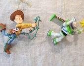 Disney Grolier President's Edition Buzz Lightyear and Woody Christmas Ornaments 1996
