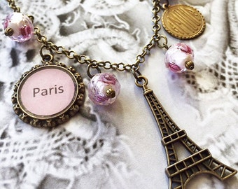 Paris Charm Eiffel Tower Necklace