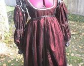 Red Velvet Danielle Ever After Fantasy Renaissance Gown Costume Movie Replica LARP SCA Belegarth Cosplay Reenactment Ready to Ship