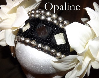 Tribal Fusion ATS Belly Dance Headpiece, Opaline