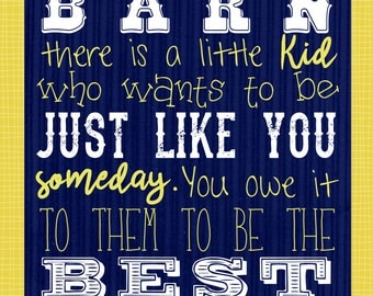 Barn Etiquette. Inspirational. 4-H. FFA. Grange. County Fair. Blue and Gold. Green and White. Rustic. Country. Cowboy. Digital Printable.