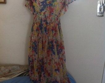 Vintage Handmade Chiffon Girl's Dress