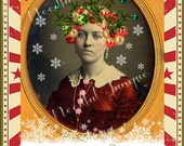 CHRiSTMaS LaDY -ALTeReD ArT - CoLLaGe