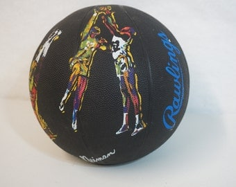 Rawlings LeRoy Nieman Souvenir Basketball 100 Years NCAA Black Ball