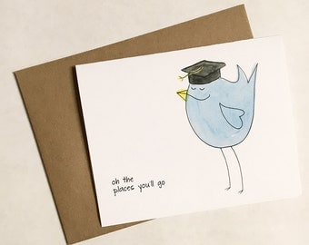 Graduation Birdie Card, Congratulations - Unisex - All ages