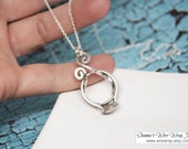 FAST SHIPPING - Magic Ring Holder Necklace, Wedding / Engagement Ring Holder Pendant, Argentium Sterling Silver