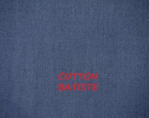 Aegean Blue Batiste, Sheer Fashion Fabric, Lightweight, Mercerized Cotton, half yard, B23