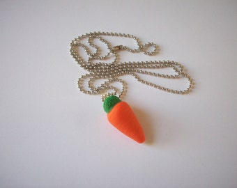 Carrot Necklace Orange Carrot Vegetable Necklace Garden Vegetable Necklace Carrot Charm Necklace Carrot Pendant