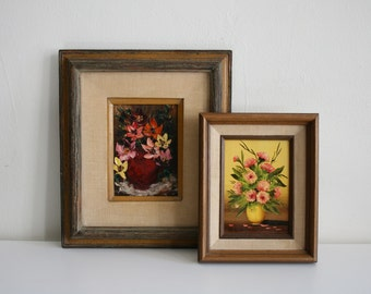 Two Mexican Bouquet Paintings