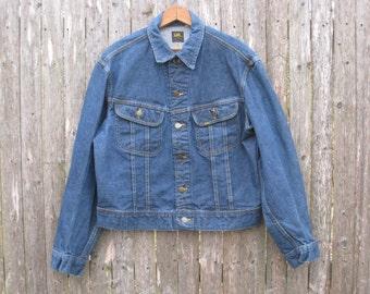 Vintage Lee Riders Denim Jacket Mens Medium Union Made