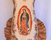 Women's Apron, Mother of Mexico, Virgen de Guadalupe, Religious Print, Apron