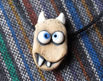Monster Bead - ceramic pendant