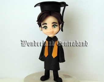 "NEW - Deluxe ""4.25  - Graduation Topper - ORIGINAL OOAK Miniature Sculptures - Decor"