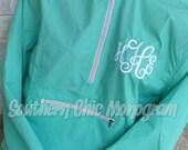 Personalized Monogrammed Charles River Pack-N-Go light weight rain jacket windbreaker Bridesmaid Gift Graduation gift greek sorority